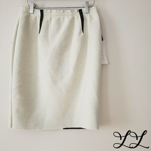 NWT English Factory Skirt Cream White Gray Pencil